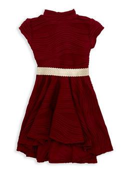 Girls 4-6x Textured Knit Skater Dress - 1614051060091