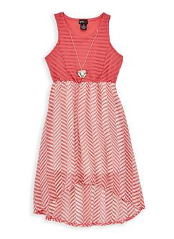 Girls 4-6x Shadow Stripe Printed Skater Dress - 1614051060095