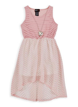 Girls 4-6x Shadow Stripe Printed Skater Dress - 1614051060095