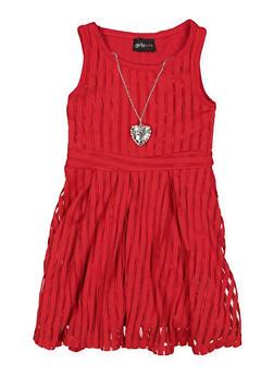 Girls 4-6x Shadow Stripe Skater Dress - 1614051060099