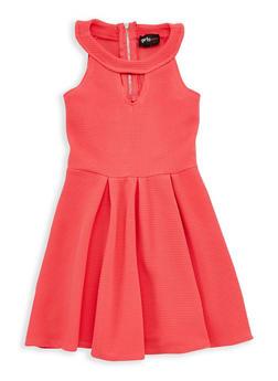 Girls 4-6x Textured Knit Skater Dress - 1614051060128