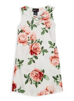 Girls 4-6x Floral Tank Dress - 1614051060136