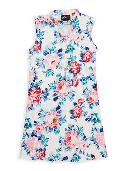 Girls 4-6x Floral Keyhole Tank Dress - 1614051060138
