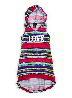 Girls 4-6x Graphic Hooded Dress - 1614051060144