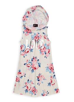 Girls 4-6x Love Graphic Hooded Tank Dress - 1614051060145