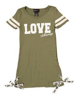 Girls 4-6x Love Always T Shirt Dress - 1614051060154