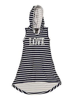 Girls 4-6x Striped Foil Graphic Tank Dress - 1614051060190