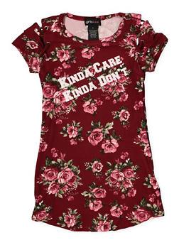 Girls 4-6x Floral Kinda Care Lace Up T Shirt Dress - 1614051060200