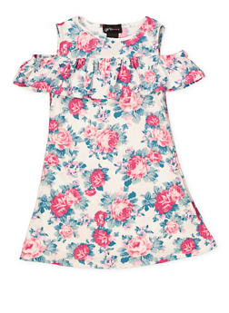 Girls 4-6x Floral Off the Shoulder Dress - 1614051060242