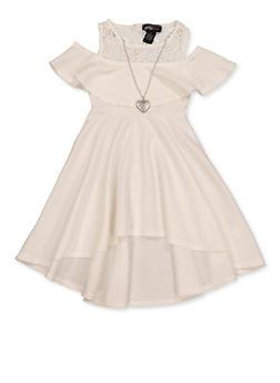 Girls 4-6x Crochet Cold Shoulder Skater Dress - 1614051060271