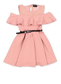 Girls 4-6x Belted Skater Dress - 1614051060290