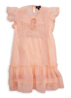 Girls 4-6x Swiss Dots Crochet Trim Dress - 1614054730011