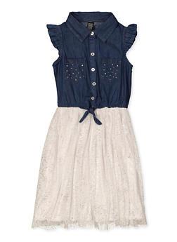 Girls 7-16 Foil Speckled Skater Dress - 1615023130030