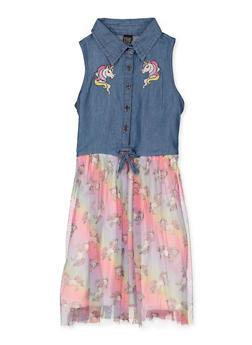 Girls 7-16 Unicorn Skater Dress - 1615023130032