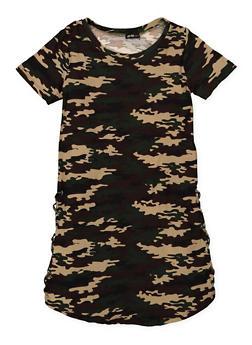 Girls 7-16 Camo T Shirt Dress - 1615038340065