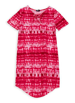 Girls 7-16 Tie Dye T Shirt Dress - 1615038340107