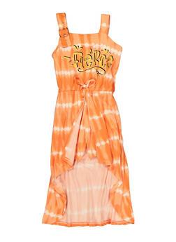 Girls Fierce Tie Dye Maxi Romper - 1615038340398