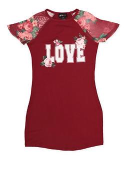 Girls 7-16 Love T Shirt Dress - 1615051060010