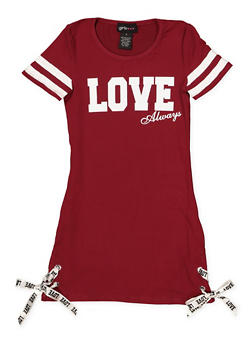 Girls 7-16 Love Always T Shirt Dress - 1615051060018