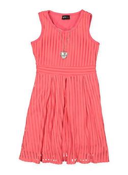 Girls 7-16 Shadow Stripe Skater Dress - 1615051060223