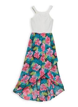 Girls 7-16 Printed Tulip Hem Dress - 1615051060229