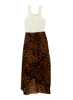 Girls 7-16 Printed High Low Asymmetrical Dress - 1615051060230
