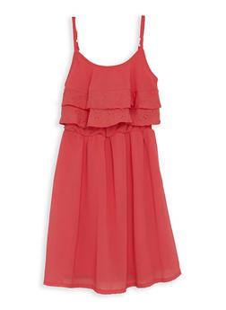 Girls 7-16 Eyelet Trim Skater Dress - 1615051060235