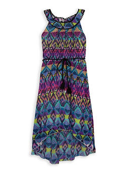 Girls 7-16 Printed High Low Dress - 1615051060240