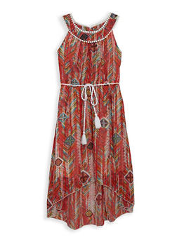 Girls 7-16 Printed High Low Dress - 1615051060240