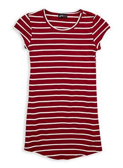 Girls 7-16 Striped T Shirt Dress - 1615051060304