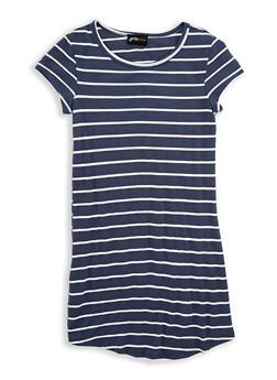 Girls 7-16 Striped T Shirt Dress - 1615051060307
