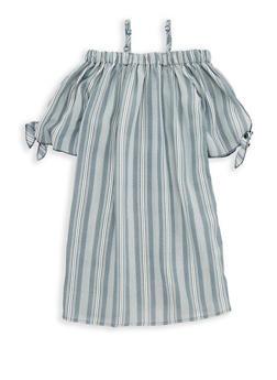 Girls 7-16 Striped Shift Dress - 1615051060319