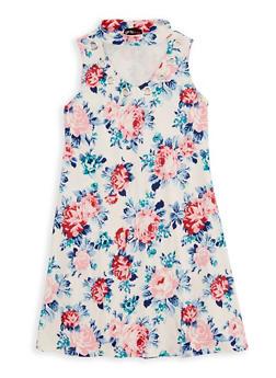 Girls 7-16 Floral Grommet Dress - 1615051060331