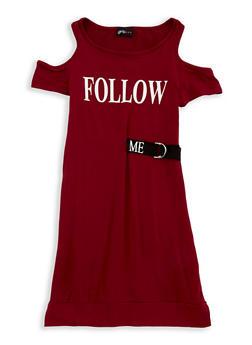 Girls 7-16 Graphic Cold Shoulder Dress - 1615051060334
