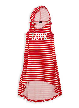 Girls 7-16 Striped High Low Tank Dress - 1615051060335