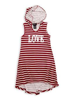 Girls 7-16 Love Graphic High Low Dress - 1615051060336