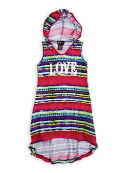Girls 7-16 Love Graphic High Low Dress - 1615051060336