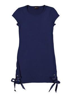 Girls 7-16 Lace Up Side Dress - 1615051060349