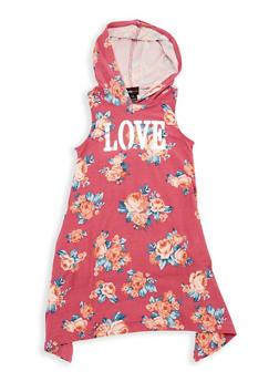 Girls 7-16 Love Graphic Hooded Dress - 1615051060351