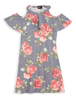 Girls 7-16 Ruffled Floral Dress - 1615051060353