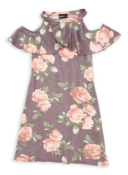 Girls 7-16 Ruffled Floral Dress - 1615051060353