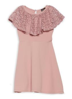 6699a2e4c3 Girls 7-16 Crochet Ruffle Skater Dress - 1615051060363