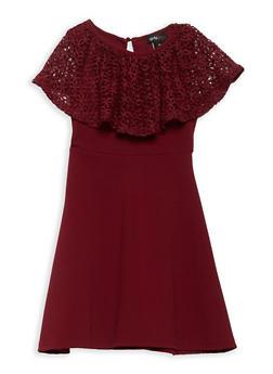 Girls 7-16 Crochet Ruffle Skater Dress - 1615051060363