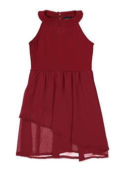 Girls 7-16 Sleeveless Tiered Dress - 1615051060367