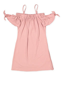 Girls 7-16 Tie Sleeve Off the Shoulder Dress - 1615051060385