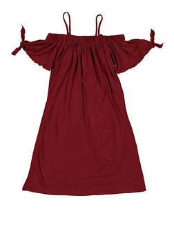 Girls 7-16 Tie Sleeve Off the Shoulder Dress - 1615051060385