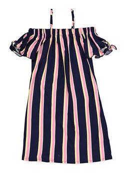 Girls 7-16 Soft Knit Off the Shoulder Shift Dress - 1615051060386