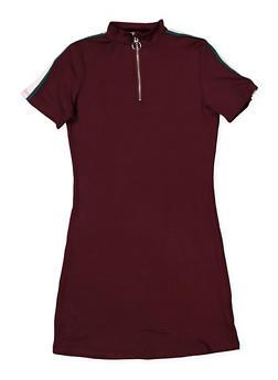 Girls 7-16 Half Zip Soft Knit Dress - 1615051060392