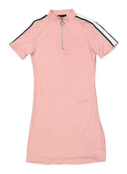 Girls 7-16 Half Zip Soft Knit Dress - 1615051060392