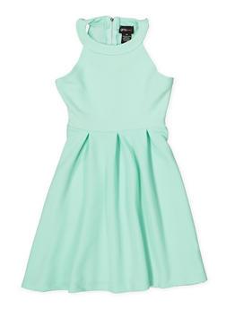 Girls 7-16 Textured Knit Skater Dress - 1615051060406